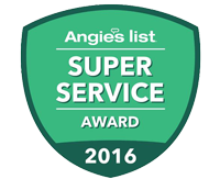 Angie's Super Service Award 2016 for HVAC